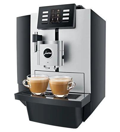 sillbern schwarzer Kaffeevollautomat Jura X8
