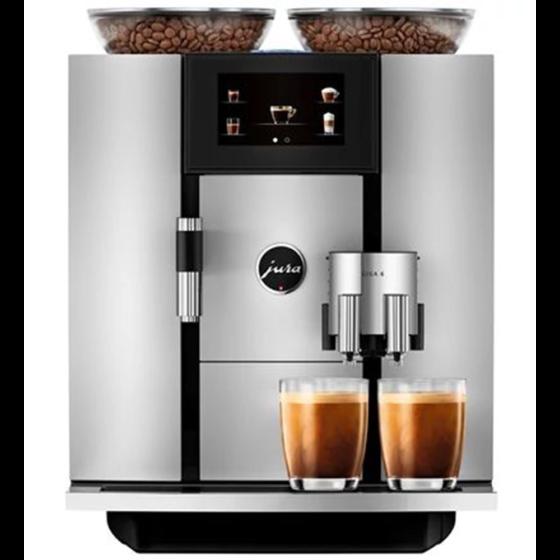 Jura Giga 6 Kaffeevollautomat mit 2 Bohnenbehältern und 2 Gläsern Café Crema