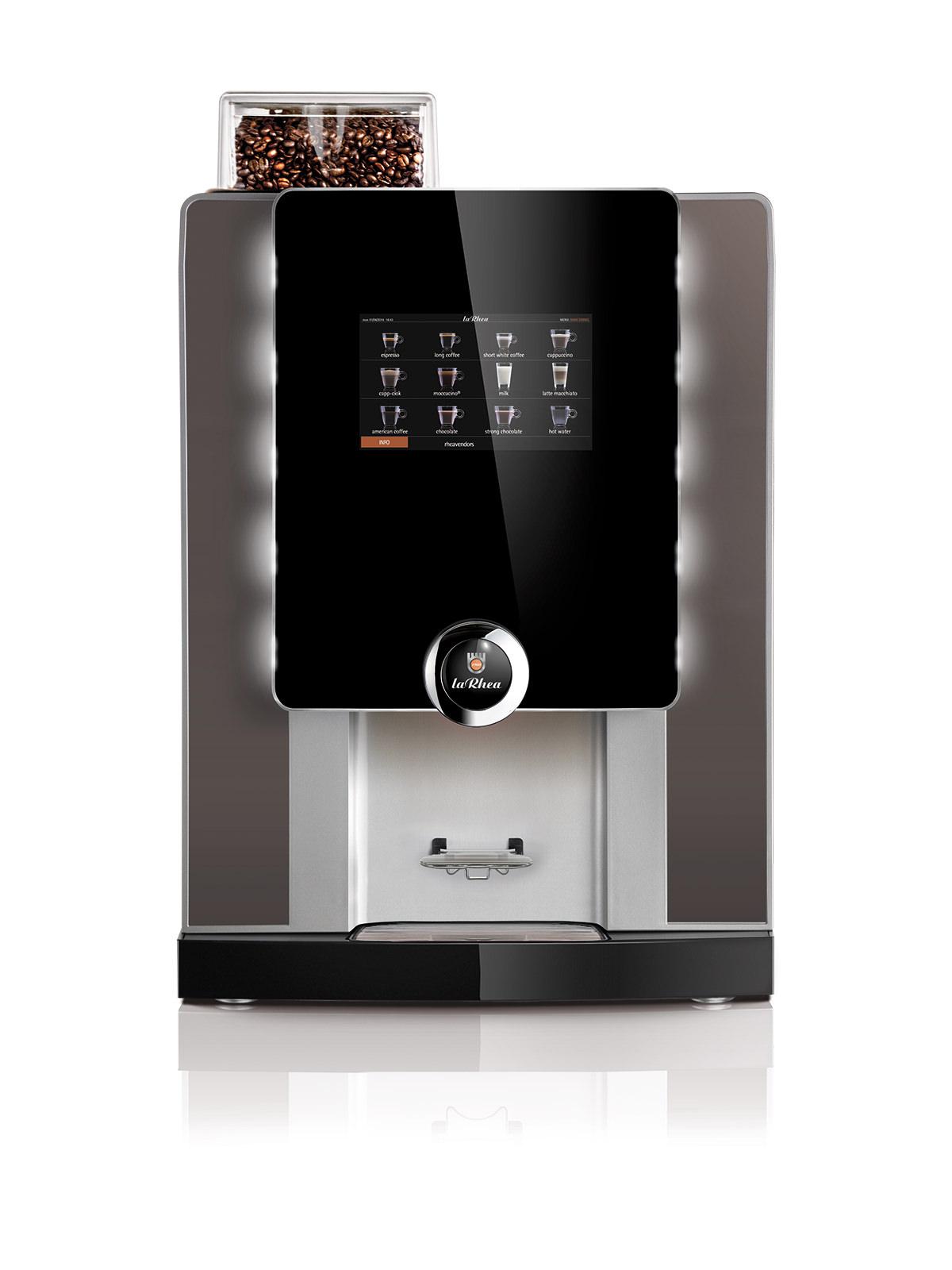 Verpflegungs- und Selbstbedienungsautomat für heisse Getränke laRhea V GrandeVHO