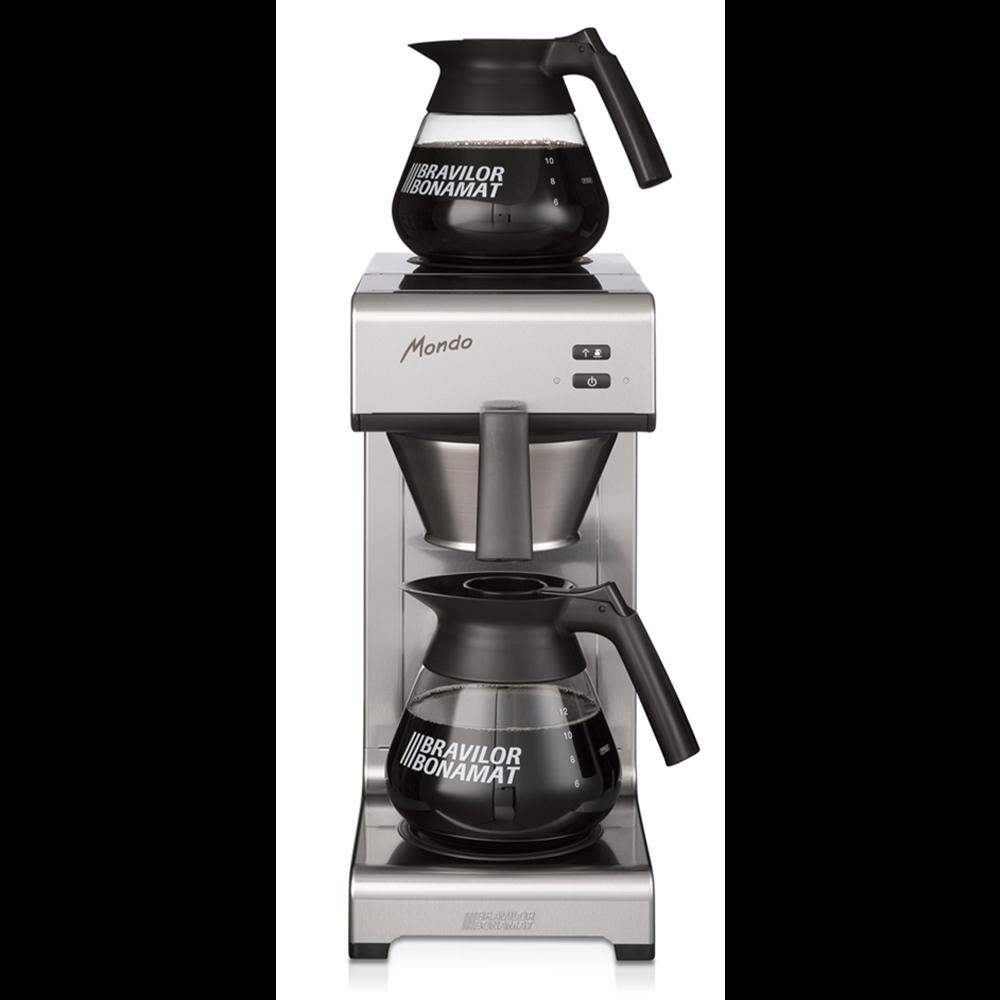 silbern schwarze Filterkaffeemaschine Bravilior Bonamat Mondo für den Profibereich