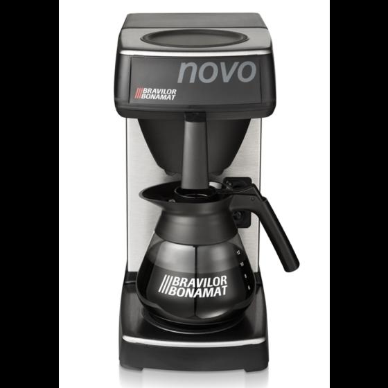 silbern schwarze Filterkaffeemaschine Bravilior Bonamat Novo für den Profibereich