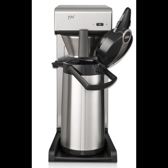 silberne Filterkaffeemaschine Bravilior Bonamat THa für den Profibereich