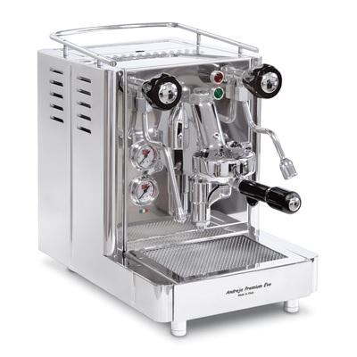 silberne Siebträgermaschine Quick Mill Andreja Premium